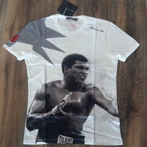 Dolce Gabbana Muhammed Ali Print T-Shirt
